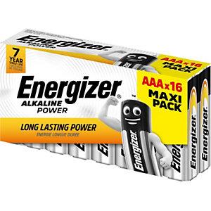 Energizer Pile alcaline AAA / LR3 Power - Lot de 16