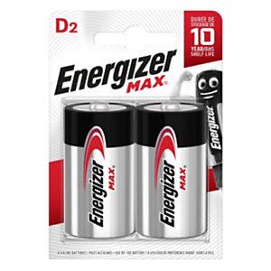 Energizer Pile alcaline D / LR20 Max - Lot de 2
