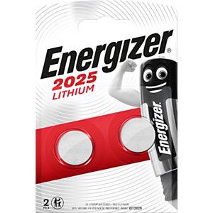 Energizer Pile bouton Lithium CR 2025 - Lot de 2
