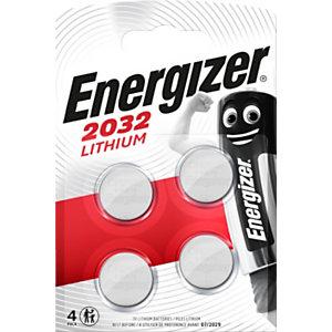 Energizer Pile bouton Lithium CR 2032 - Lot de 4
