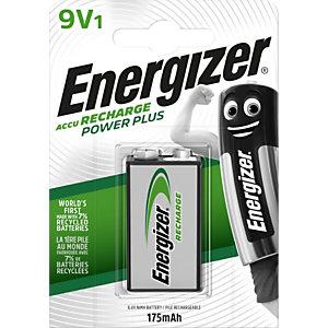 Energizer Pile rechargeable 9V / 6HR61 Power Plus - 175 mAh - 1 accu