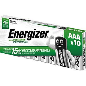 Energizer Pile rechargeable AAA / HR3 Power Plus - 700 mAh - Lot de 10 accus