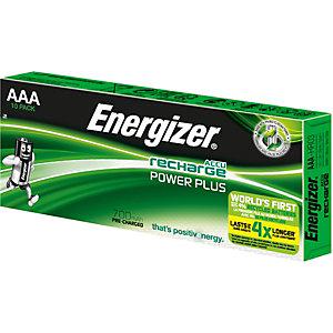 Energizer Recharge Power Plus Pilas precargadas AAA/NH12, 700 mAh, recargables, paquete de 10