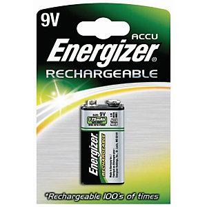 Energizer Rechargeable Power Plus Pila 9V/HR22, 175 mAh, recargable, blíster de 1