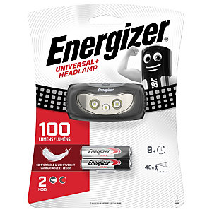 Energizer Torcia da fronte a 3 Led Universal+, 100 lumens