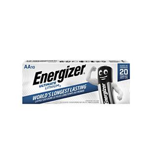Energizer Ultimate Lithium Pilas de litio AA/LR06 1,5 V, 2000 mAh, no recargables, paquete de 10