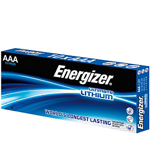 Energizer Ultimate Lithium Pilas de litio AAA/LR03 1,5 V, 2000 mAh, no recargables, paquete de 10