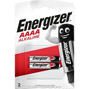 Energizer Ultra+ Alkaline Pilas alcalinas AAAA/LR61 1,5 V, 625 mAh, no recargables, blíster de 2