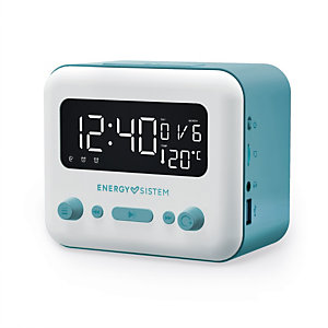 Energy Sistem Clock Speaker 2, Reloj, Digital, FM, 87.5 - 108 MHz, 5 W, 70 - 15000 Hz 450725