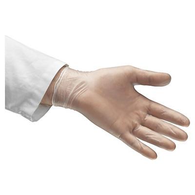 Engångshandskar av vinyl - Puderfria handskar som är enkla att trä på