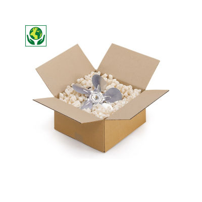 Caisse carton simple cannelure de moins de 30 cm de long##Enkelgolfdoos lengte 10 tot 30 cm