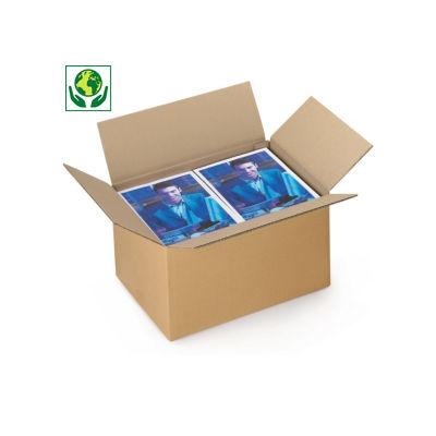 Caisse carton simple cannelure de 40 à 50 cm de long##Enkelgolfdoos lengte 40 tot 50 cm