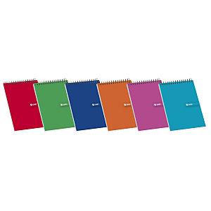 ENRI Bloc con tapa, 16º, cuadriculado, 80 hojas, cubierta cartón plastificado, colores surtidos
