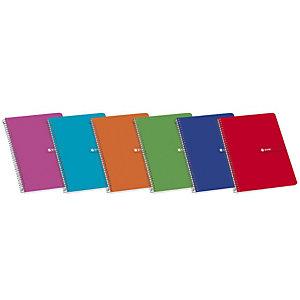 ENRI Luchador Cuaderno, 4º, cuadriculado, 80 hojas, cubierta blanda cartón plastificado, colores surtidos