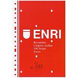 ENRI Recambio de hojas, Folio, 16 taladros para archivador, cuadriculado, 100 hojas