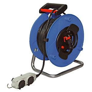 Enrouleur de câble 25m à 4 prises mobiles, H05VV-F 3G 1,5 mm² Brennenstuhl