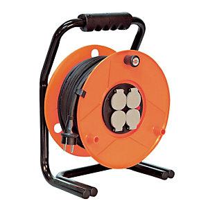 Enrouleur de câble professionnel pour milieu humide 25 m, 4 prises, IP44 25m H07RN-F 3G 1,5 mm² Brennenstuhl