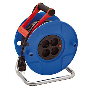 Enrouleur électrique Standard S Brennenstuhl, 4 prises, câble 30m H05VV-F 3G1,5