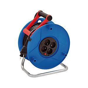 Enrouleur électrique Standard S Brennenstuhl, 4 prises, câble 50m H05VV-F 3G1,