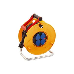 Enrouleur électrique Standard Pro Brennenstuhl, 4 prises, Protection IP44, câble 40m H07RN-F 3G1,5
