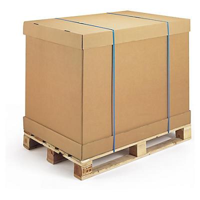 Ensemble caisse modulable avec fond, ceinture et coiffe##Kombination Container-Element und Boden/Deckel