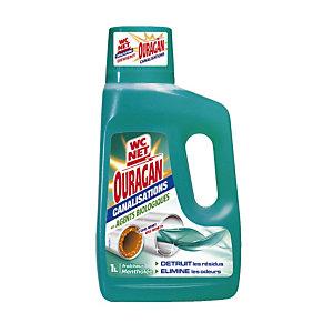 Entretien canalisation WC Net Ouragan fraîcheur mentholée 1 L