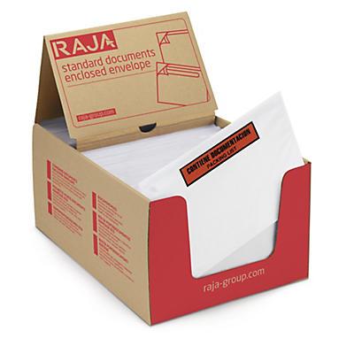 Envelope adesivo packing list com mensagem impresso RAJA