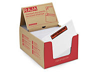 Envelope adesivo packing list com mensagem impresso RAJALIST