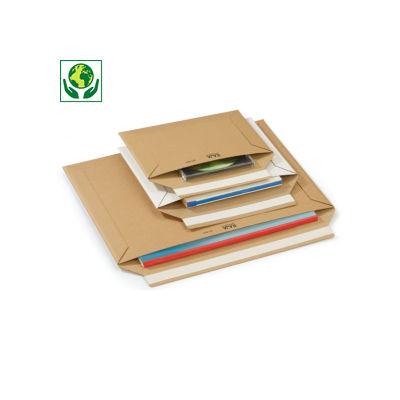 Envelope de cartão castanho com fita adesiva RAJA