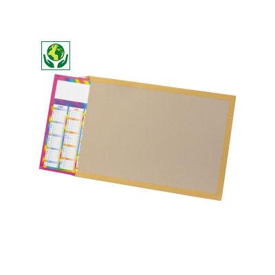 Envelope papel kraft com dorso em cartão