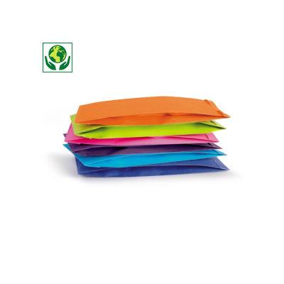Envelope papel kraft para presente cores vivas