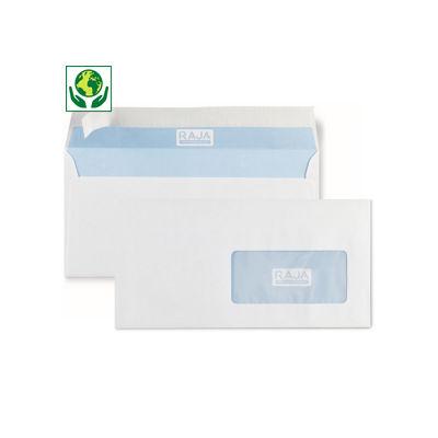Enveloppe commerciale FSC vélin blanc auto-adhésive avec fenêtre 80 g/m² RAJA