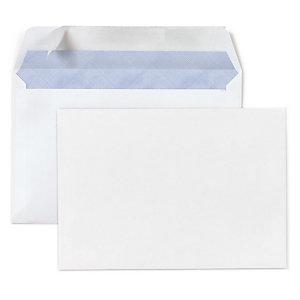 Enveloppe Commerciale Vélin Blanc Auto Adhésive Avecsans Fenêtre 80