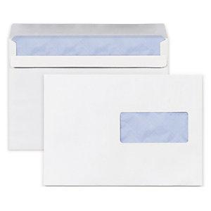 Enveloppe Commerciale Vélin Blanc Autocollante Avecsans Fenêtre 80