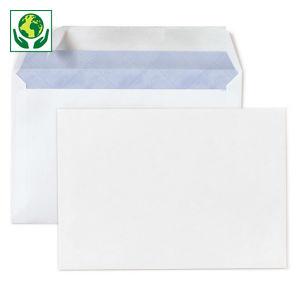 Enveloppe commerciale vélin blanc autocollante avec/sans fenêtre 80 g/m²