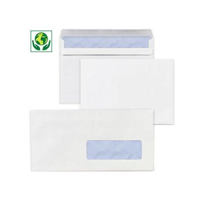 Enveloppe commerciale vélin extra-blanc mécanisable patte gommée avec fenêtre 80 g/m² LA COURONNE