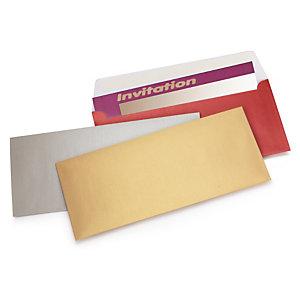 Enveloppe  couleur irisée auto-adhésive sans fenêtre 120g/m²