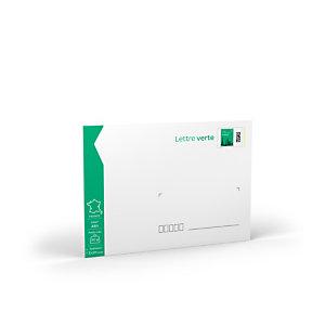 Enveloppes pré-timbrées - lettre verte - 162 x 229 mm - 50 g (Soumis à conditions) (Lot de 10)