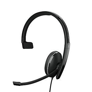 EPOS SC 135 Mono - Casque Jack et USB filaire - Noir