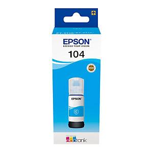 Epson 104 Bouteille d'encre originale EcoTank (C13T00P240) - Cyan
