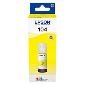Epson 104 Bouteille d'encre originale EcoTank (C13T00P440) - Jaune