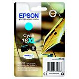 Epson 16XL, C13T16324012, Cartucho de Tinta, DURABrite Ultra, Bolígrafo y Crucigrama, Cian, Alta capacidad