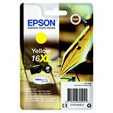 Epson 16XL, C13T16344012, Cartucho de Tinta, DURABrite Ultra, Bolígrafo y Crucigrama, Amarillo, Alta capacidad