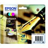 Epson 16XL, C13T16364012, Cartucho de Tinta, DURABrite Ultra, Bolígrafo y Crucigrama, Negro, Cian, Magenta, Amarillo, Alta Capacidad