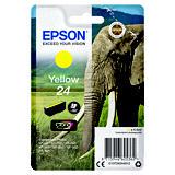Epson 24, C13T24244012, Cartucho de Tinta, Claria Premium, Elefante, Amarillo