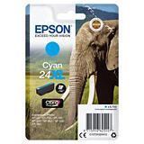 Epson 24XL, C13T24324012, Cartucho de Tinta, Claria Photo HD Ink, Elefante, Cian, Alta Capacidad