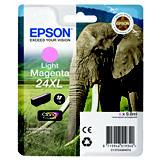 Epson 24XL, C13T24364010, Cartucho de Tinta, Claria Photo HD Ink, Elefante, Magenta Claro, Alta Capacidad
