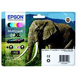 Epson 24XL, C13T24384011, Cartucho de Tinta, Claria Photo HD Ink, Elefante, Negro, Cian, Magenta, Amarillo, Cian claro, Magenta claro, Alta Capacidad