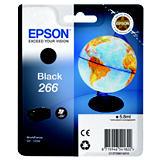 Epson 266, C13T26614010, Cartucho de Tinta, Globo terráqueo, Negro