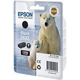 """Epson 26XL """"Ours Polaire"""" Cartouche d'encre originale grande capacité Claria Premium (C13T26314012) - Noir Photo"""